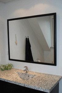 spejl med sort ramme Spejle, glashylder og glasmontrer | Glarmester Brøndby, Glostrup  spejl med sort ramme